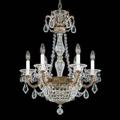 La Scala 8-Light Crystal Chandelier Finish: Florentine Bronze, Crystal Type: Heritage Clear