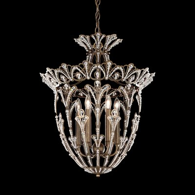 Rivendell 6-Light Foyer Pendant Finish: Heirloom Gold, Crystal: Clear Spectra Crystal