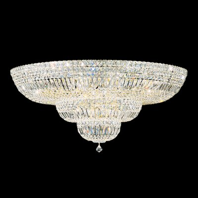Petit 27-Light Flush Mount Finish: Aurelia, Crystal Type: Swarovski Elements Clear