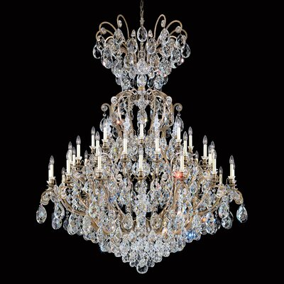 Renaissance 41-Light Candle-Style Chandelier Finish: Swarovski