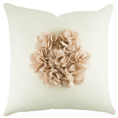 Floral Burlap Throw Pillow