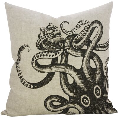 Seabury Kraken Linen Throw Pillow