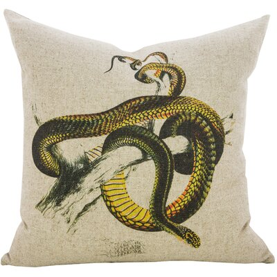 Snake Linen Throw Pillow