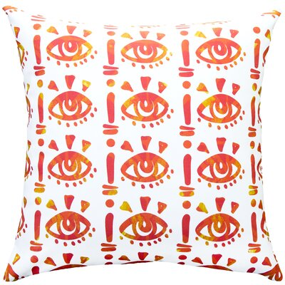 Eyes Cotton Throw Pillow Size: 18