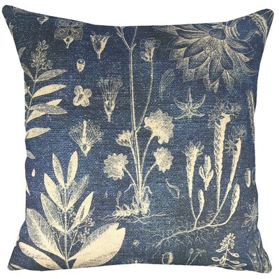 Botanical Indigo Throw Pillow