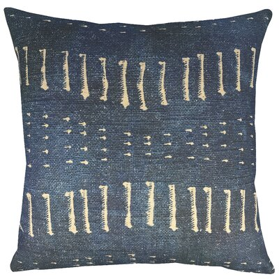 Distressed Indigo Throw Pillow