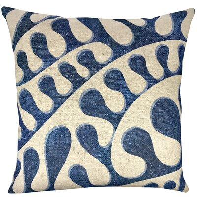 Swirling Shibori Cotton Throw Pillow