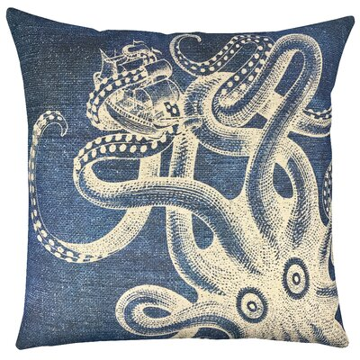 Kraken Shibori Throw Pillow