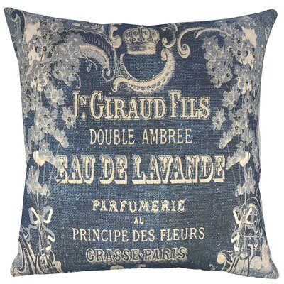 Lavender Indigo Cotton Throw Pillow