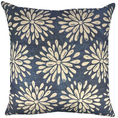 Flowers Shibori Throw Pillow