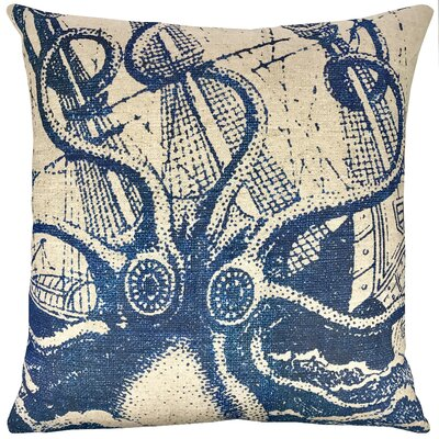 Octopus Batik Throw Pillow