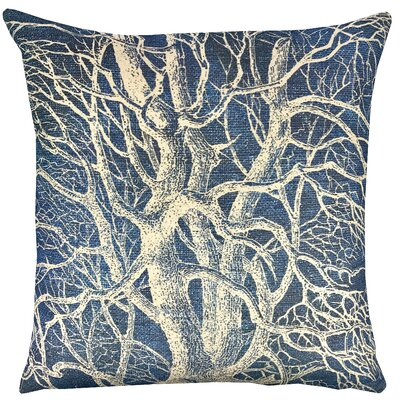 Tree Shibori Throw Pillow