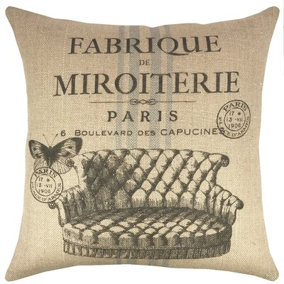 Paris Burlap Throw Pillow