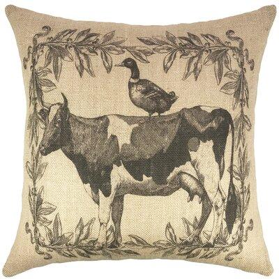 Farmhouse Burlap Throw Pillow
