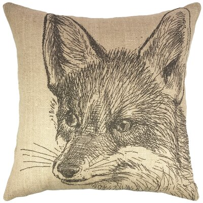 Fox Burlap Throw Pillow