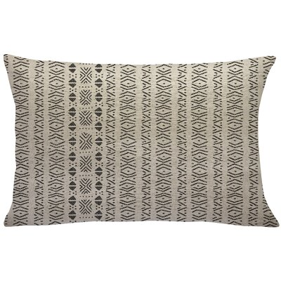 Scarber Mud Cloth Linen Lumbar Pillow