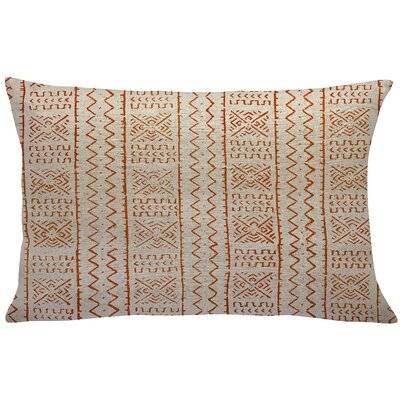 Abdinour Mud Cloth Linen Lumbar Pillow Color: Orange