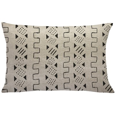 Sinsel Mud Cloth Linen Lumbar Pillow Color: Black