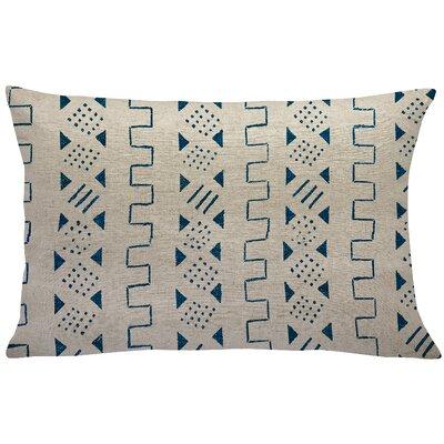 Sinsel Mud Cloth Linen Lumbar Pillow Color: Blue