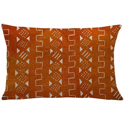 Sinsel Mud Cloth Linen Lumbar Pillow Color: Orange
