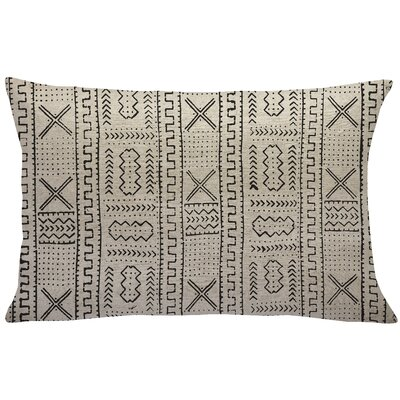 Mollica Mud Cloth Linen Lumbar Pillow Color: Black