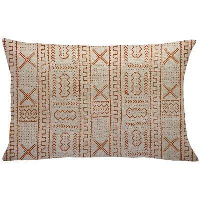 Mollica Mud Cloth Linen Lumbar Pillow Color: Orange