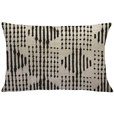 Briedis Mud Cloth Linen Lumbar Pillow Color: Black