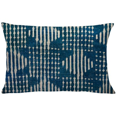 Briedis Mud Cloth Linen Lumbar Pillow Color: Blue