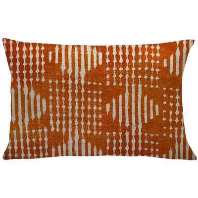 Briedis Mud Cloth Linen Lumbar Pillow Color: Orange