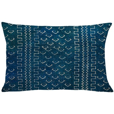 Burkhardt Mud Cloth Linen Lumbar Pillow Color: Blue