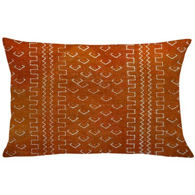 Burkhardt Mud Cloth Linen Lumbar Pillow Color: Orange