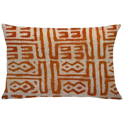 Cao Mud Cloth Linen Throw Pillow Color: Orange
