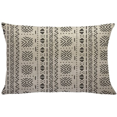 Walkoviak Mud Cloth Linen Lumbar Pillow Color: Black