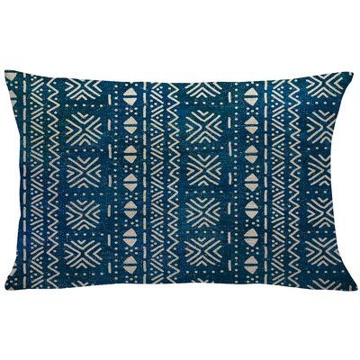 Walkoviak Mud Cloth Linen Lumbar Pillow Color: Blue