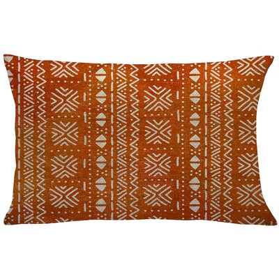Walkoviak Mud Cloth Linen Lumbar Pillow Color: Orange