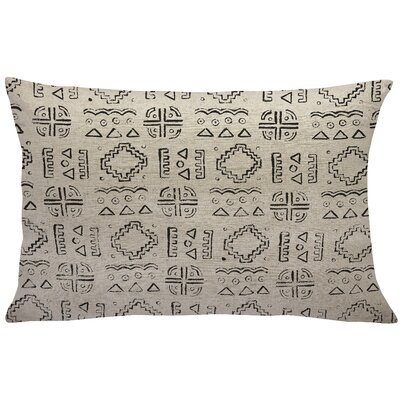 Lewis-McNeil Mud Cloth Linen Lumbar Pillow Color: Black