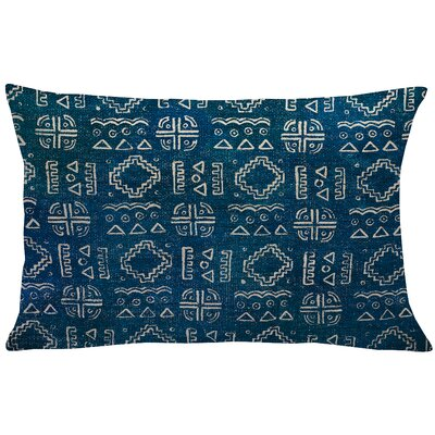 Lewis-McNeil Mud Cloth Linen Lumbar Pillow Color: Blue