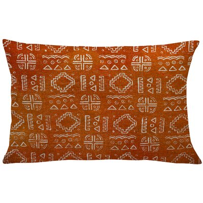Lewis-McNeil Mud Cloth Linen Lumbar Pillow Color: Orange