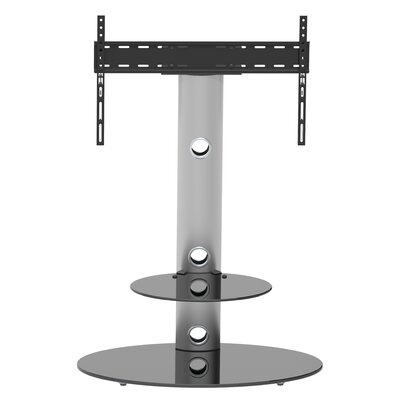 Lugano Universal Floor Mount for 32-50 Flat Panel Screens Finish: Silver