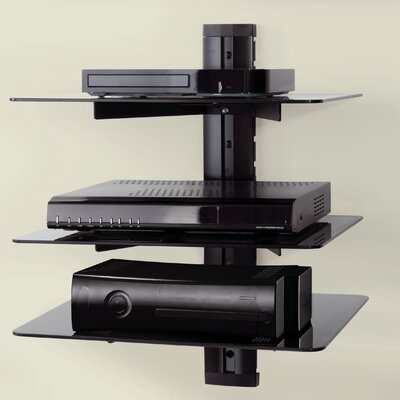 AV Wall Mounted Component Shelving System AS300-A
