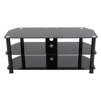 Glass TV Stand Finish: Black SDC1140CMBB-A