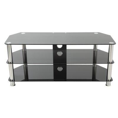 Glass TV Stand Finish: Chrome/Black