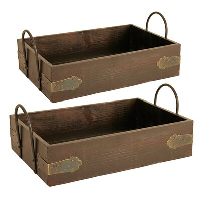 Serving Tray with Metal Handle Set 8539/sm