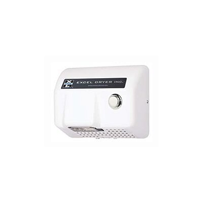 Excel Dryer Lexan Push Button Surface Mounted 110 / 120 Volt Hand Dryer in White