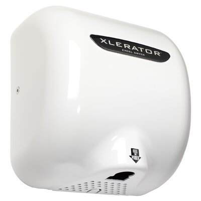 Excel Dryer Thermoset (BMC) XLERATOR Automatic Surface Mounted 110 / 120 Volt Hand Dryer in White