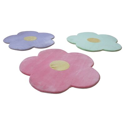 3 Piece Daisy Flower Kids Indoor/Outdoor Area Rug Set Rug Size: Novelty 2' x 2'