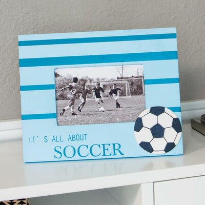 Heart to Heart Wooden Soccer Picture Frame