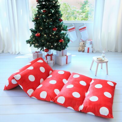 Baye Polka Dot Pillow Cover Size: 32 W x 88 L, Color: Red