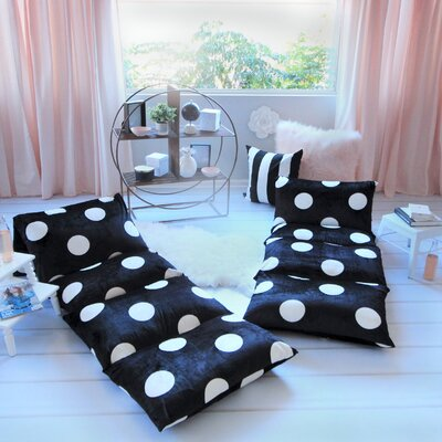 Baye Polka Dot Pillow Cover Size: 32 W x 88 L, Color: Black