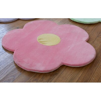 Daisy Flower Kids Indoor/Outdoor Area Rug Rug Size: Flower 21 x 21